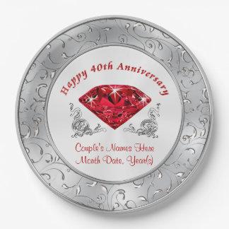 40th Anniversary Plates