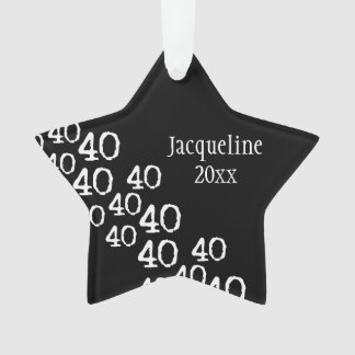 Personalized 40th Birthday Keepsake Ornament