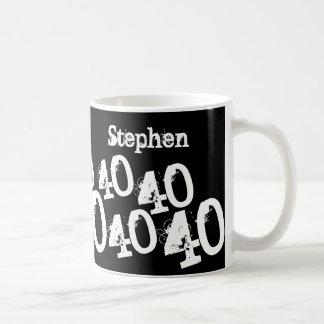 Personalized 40th Birthday Basic White Mug