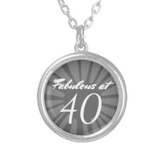 Personalized 40th Birthday Over the Hill Pendant
