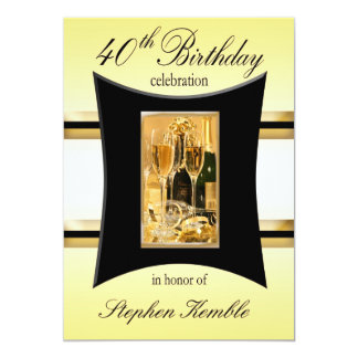Personalized 40th Birthday Party Invitations