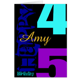 Personalized 45th Birthday POP Greeting Card