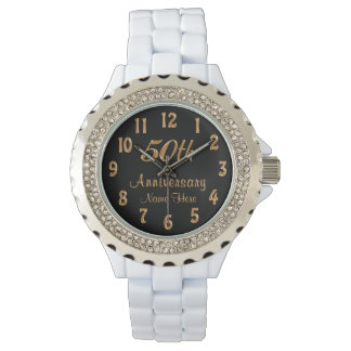 Personalized 50th Anniversary Gifts for Him or Her Watch