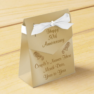 Personalized 50th Anniversary Party Favors Boxes Wedding Favour Box