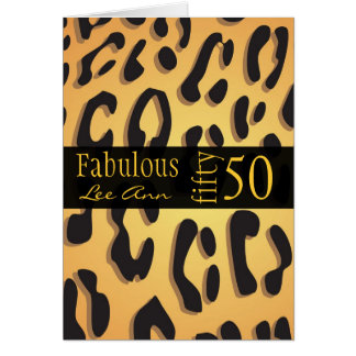 Personalized 50th Birthday Card for Baby Boomer Wo