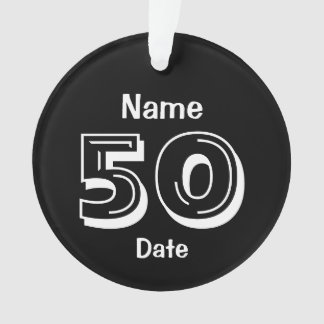 Personalized 50th Birthday Gag Gift Black White