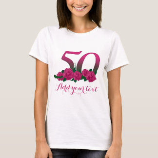 Personalized 50th  customizable 50 template T-Shirt