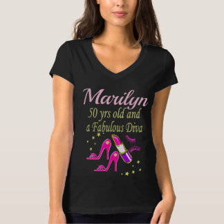 PERSONALIZED 50TH FASHIONISTA BIRTHDAY DESIGN T-Shirt
