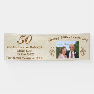 Personalized 50th Wedding Anniversary Banners