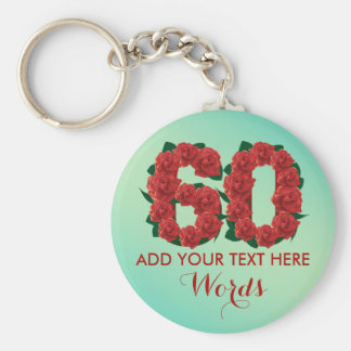 Personalized 60th birthday 60 anniversary Keychain