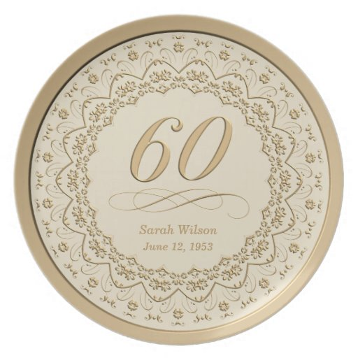 Personalized 60th Birthday Plate