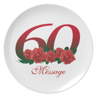 Personalized 60th plate