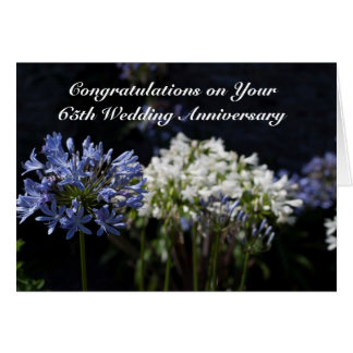 Personalized 65th Wedding Anniversary / Any Year Card