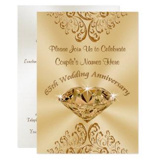 Personalized 65th Wedding Anniversary Invitations