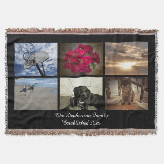 Personalized 6 Photo Afghan Mosaic Picture Collage