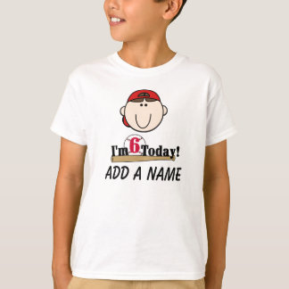 Personalized 6th Baseball Birthday Tshirt
