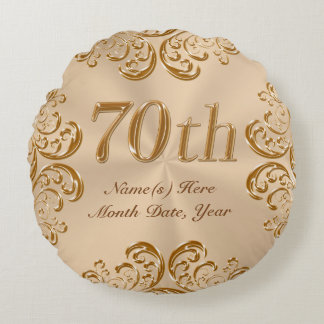 Personalized 70th Anniversary or Birthday Pillow