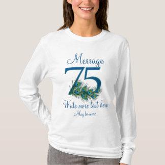 Personalized 75 classy 75th birthday anniversary T-Shirt