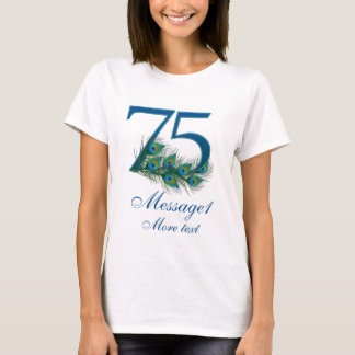 Personalized 75th wedding anniversary t-shirt