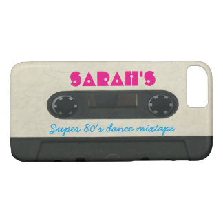 Personalized  80's vintage cassette iphone 7 case