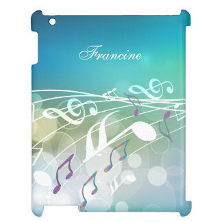 Personalized Abstract Music Design iPad Case