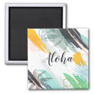 Personalized Abstract Tropical | Magnet