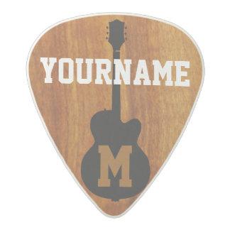 personalized acetal guitar pick