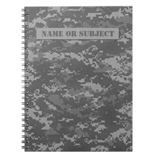 Personalized ACU Digital Camo Spiral Notebook