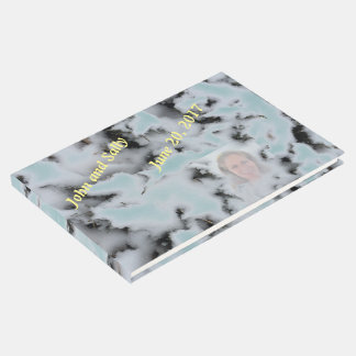 Personalized Add Photo Choose Color Snow Camo Guest Book