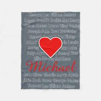Personalized Add Your Name Fleece Blanket