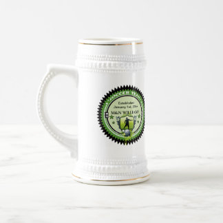 Personalized Add Your Name Soccer Team Logo Beer Stein