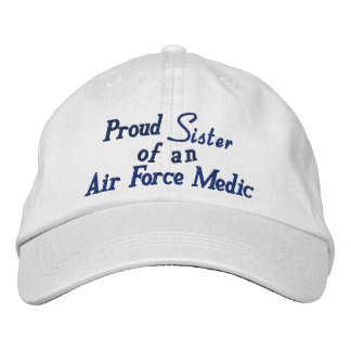 "Personalized Adjustable Hat: ""Air Force Medic II"" Embroidered Baseball Caps"