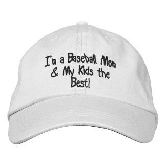 "Personalized Adjustable Hat ""BASEBALL MOM"" Embroidered Baseball Caps"
