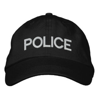 Personalized Adjustable Hat POLICE Embroidered Hats