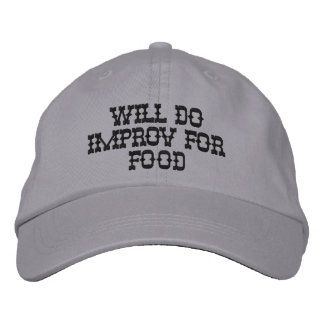 Personalized Adjustable Hat Will Do Improv For Foo Embroidered Baseball Caps