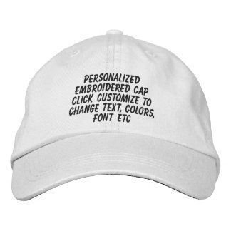 Personalized Adjustable Make It Yourself Embroidered Hats