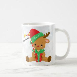 Personalized Adorable Baby Reindeer Coffee Mug