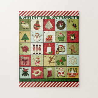 personalized Advent Calendar Jigsaw Puzzle
