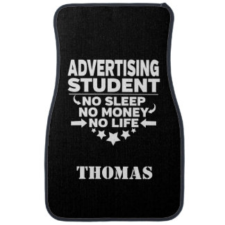 Personalized Advertising Student No Sleep Money Car Mat