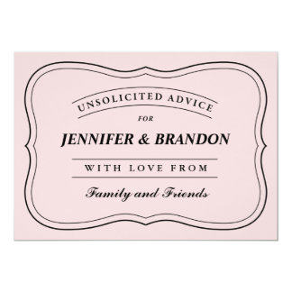 Personalized Advice Cards for the Bride and Groom