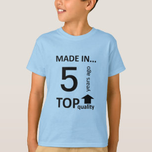 Personalized Age 3 9 Years Old Kids Birthday T Shirt