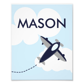 Personalized Airplane Photo Print