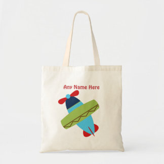 Personalized Airplane Taking Flight Tote Bag