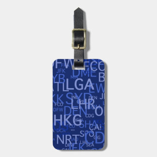 Personalized Airport Codes Luggage Tag
