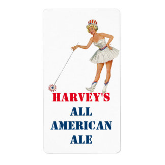 Personalized All American Homebrew Custom Labels