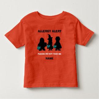 Personalized Allergy Alert Halloween Teal Pumpkin Toddler T-Shirt