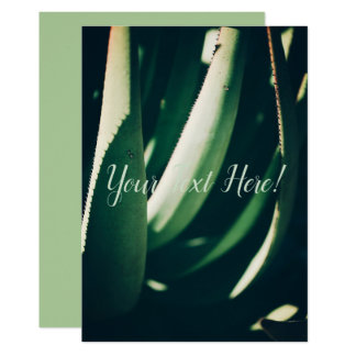 Personalized Aloe Plant Green Invitation Card