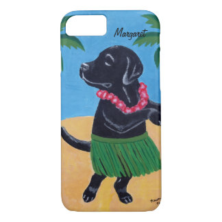 Personalized Aloha Black Labrador iPhone7 Case