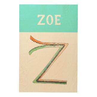 Personalized Alphabet Letter Z wall art