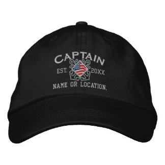 Personalized American Captain Nautical Embroidery Embroidered Baseball Caps